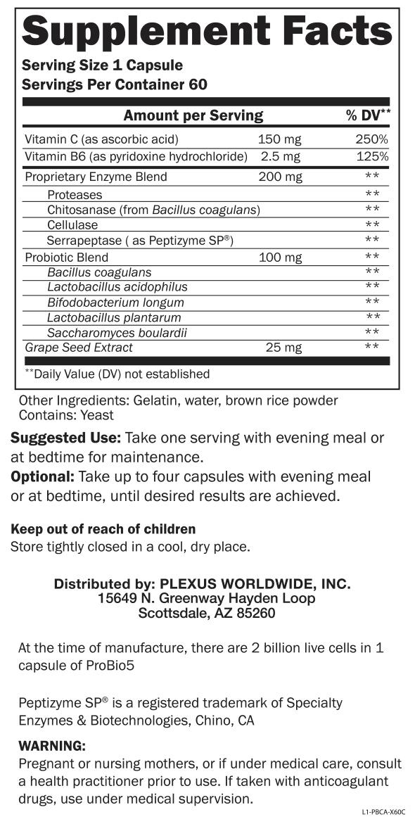 plexus probio 5 ingredients