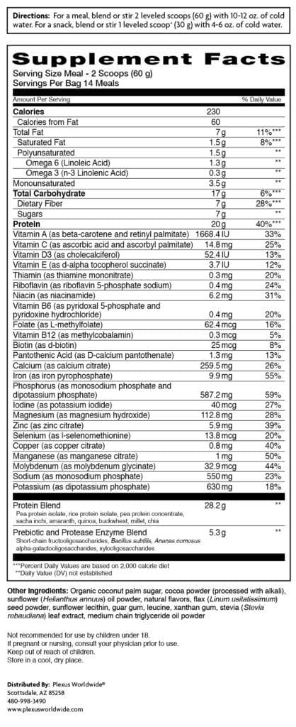 plexus lean ingredients